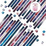 NBEADS Juego Lucky Origami Star, 1080 Tiras de Papel de Origami Y Caja Plegable de Estrella de Plástico para Hacer Papel de Origami DIY