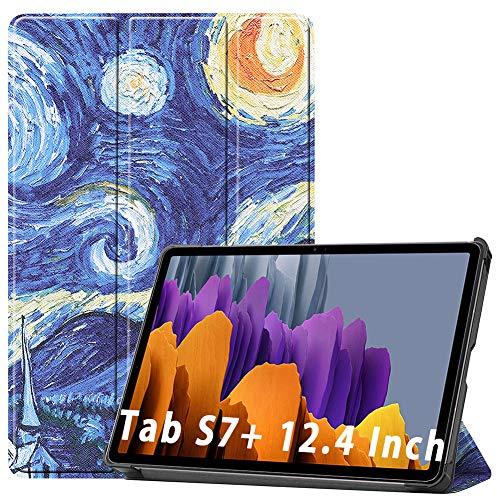 NUPO Custodia per Samsung Galaxy Tab S7 Plus 2020, Ultra Slim Cover PU Ultra Leightweight Flip Custodia con funzione di supporto, perfetta per Galaxy Tab S7+ SM-T976 Colore: 04.