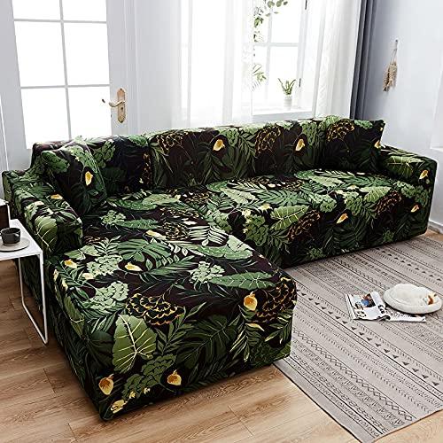 WXQY Sofabezug mit Streifenmuster, elastischer Sofabezug Wohnzimmer Haustierecke L-förmiger Eckwürfel-Sofabezug Couchbezug A9 3-Sitzer