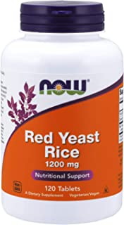 NOW Supplements, Red Yeast Rice 1200 mg, 120 Tablets