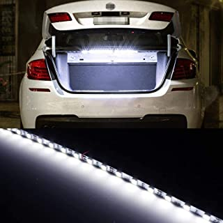 iJDMTOY 18-SMD-5050 LED Strip Light Compatible With Car Trunk Cargo Area or Interior Illumination, Xenon White
