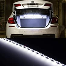 iJDMTOY 18-SMD-5050 LED Strip Light For Car Trunk Cargo Area or Interior Illumination, Xenon White