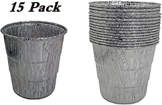 15-Pack Disposable Grease Bucket Liners Replace Part for Traeger Wood Pellet Grill & Oklahoma Joe`s Smoker Grill, Silver