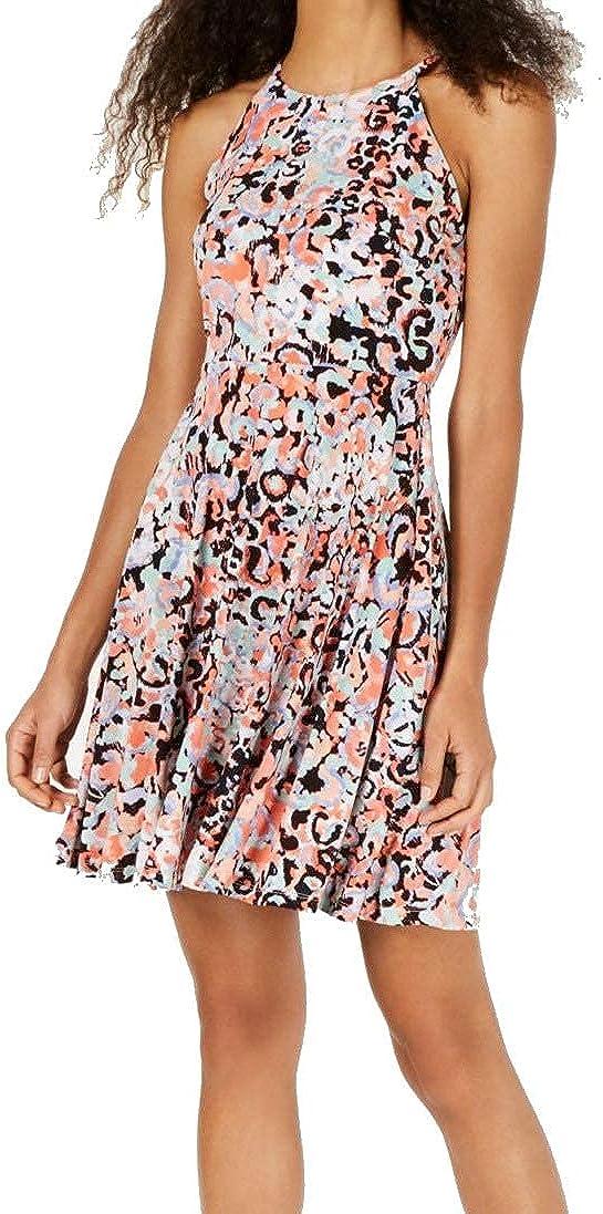 Bar III Womens Sleeveless Printed Casual Dress