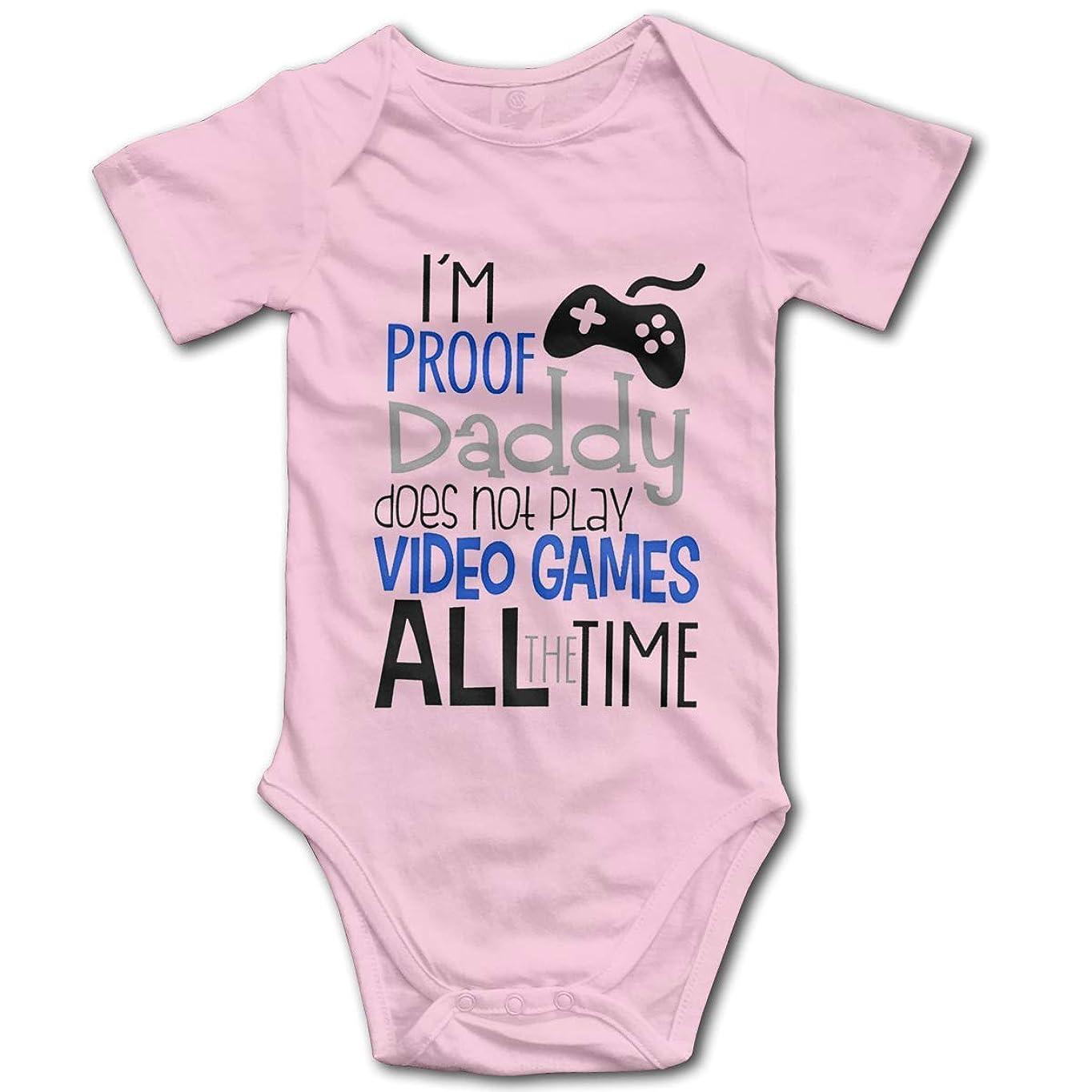 木材利用可能絶対のピンク私は証明パパはいつもビデオゲームをしていません-面白いかわいい幼児、ワンピースのベビーボディスーツ
