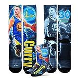 Golden State Warriors NBA Drive Crew Socks Men's Medium 5-10 1 Pair - Stephen Curry