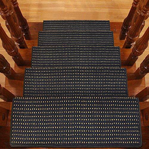 Jenify Tappeto Scale Treads Set di 8 Antiscivolo/Skid Rubber Runner tappetini o Tappeto battistrada-Indoor Pet Dog Stair Treads pastiglie 9,5'x 25,6',M7