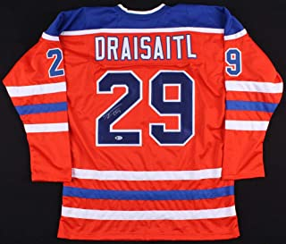 Leon Draisaitl Autographed Signed Oilers Jersey Beckett 3Rd Overall Pick 2014 Nhl Draft - Certified Signature