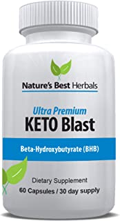 Ultra Premium Keto Blast | Weight Loss Supplement for Fast Fat Burn – Boost Energy & Speed Metabolism | BETAHYDROXYBUTYRATE BHB Salts Ketogenic Diet Pills - 800 mg, 60 Capsules / 30 Day Supply