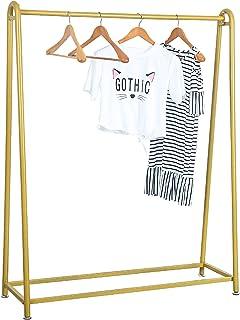 MBQQ モダン メタル 衣類ラック 衣類 ディスプレイラック ヴィンテージブティックラック 寝室 リビングルーム 布店 ゴールド