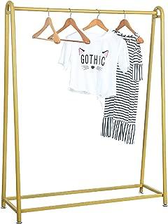 MBQQ Modern Metal Clothing Rack Garment Clothes Display Racks Vintage Boutique Rack for Bedroom Living Room Cloth Store,Golden
