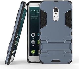 MaiJin Funda para Xiaomi Redmi Note 4 / Redmi Note 4X (5,5 Pulgadas) 2 en 1 Híbrida Rugged Armor Case Choque Absorción Protección Dual Layer Bumper Carcasa con Pata de Cabra (Azul Negro)