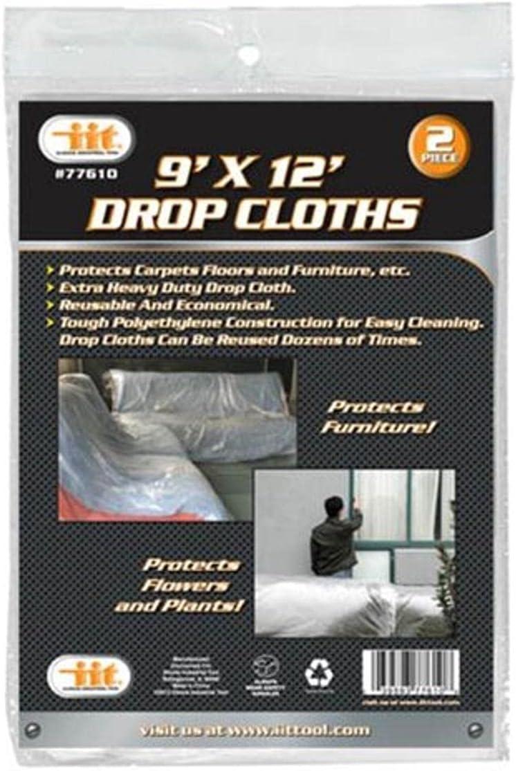 IIT 77610 Max 87% OFF Drop Cloths 9-Feet X 2-Pack 12-Feet wholesale