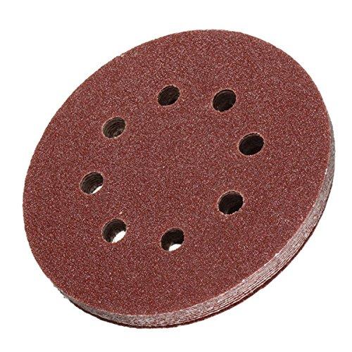 10-50 feuilles Velcro Papier Abrasif Meule ponceuse meuleuse meules 150 mm 8-Trou