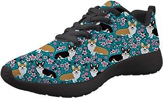 Amzbeauty Chaussures de marche pour femme - Baskets légères et absorbantes - Confortables et antidérapantes - Motif chien ...
