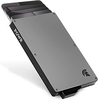 POWR Card Holder Wallet, Mens Minimalist Slim Metal RFID Blocking Contactless Card Protector