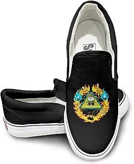 Amone Gravity Falls Disne Skate Unisex Flat Canvas Shoes Sneaker Black