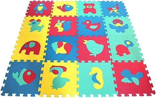 Tapis de Puzzles Mousse Souple BéBé Puzzle Petit Animal Play Mat-Puzzle 16 Dalles 8514