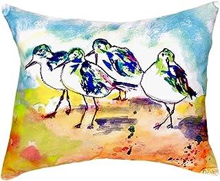 "Betsy Drake NC417 Sanderlings No Cord Pillow,,16"" X20"""