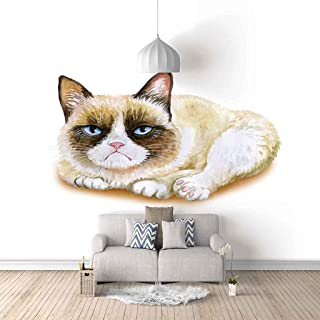 VITICP Adults Kids Wall Stickers Decals Peel and Stick Removable Wallpaper Painted Animal cat for Nursery Bedroom Living R...