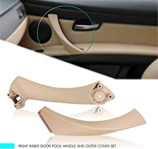 InSassy Door Pull Handle Set for BMW E90 E91 E92 E93 3 Series - Right Front/Rear Door Panel Handle Support Bracket and Outer Trim Cover - Passenger Side Replacement 51-41-7-230-854 51-41-9-150-340