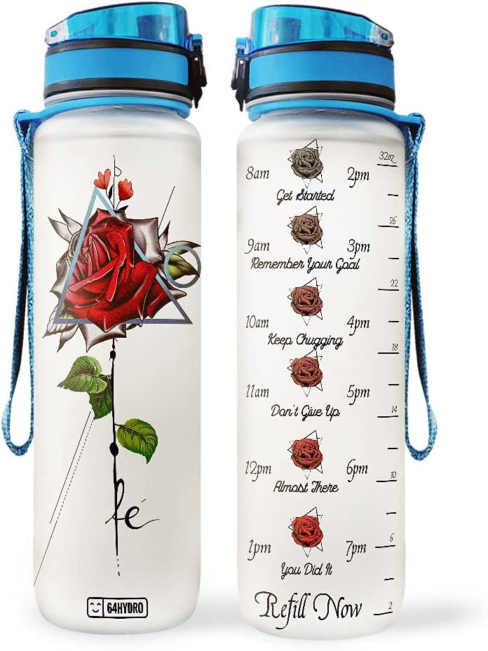64HYDRO 32oz 1Liter Motivational cheap Water Bottle Marker Time 100% quality warranty! with