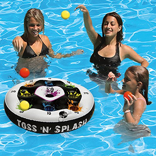 Poolmaster Toss 'N' Splash Inflatable Floating Game for Swimming Pools, Lawns, Decks