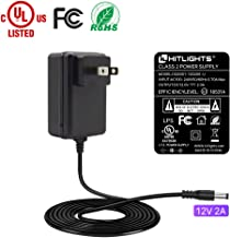 HitLights 24 Watt (2 Amp) LED Power Supply 110V AC to 12V DC Transformer UL-Listed Lighting Power Adapter for LED Strip Lights and Other Low Voltage Devices   Child vatiation name: 12V UL-Listed 24W