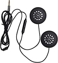 Andoer Fones de ouvido com fio Capacete de intercomunicação de motocicleta Fone de ouvido musical de alta qualidade de 3,5...