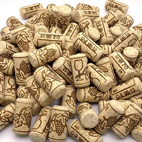 JILYEMOY #8 gerade Korken, 2,2 cm x 4,5 cm, natürliche Weinkorken, dekorative Handwerks-Korken, Weinstopfen zum Abfüllen – 100 Stück