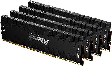Kingston FURY Renegade 128GB (4x32GB) 3200MHz DDR4 CL16 Desktop Memory Kit of 4 KF432C16RBK4/128