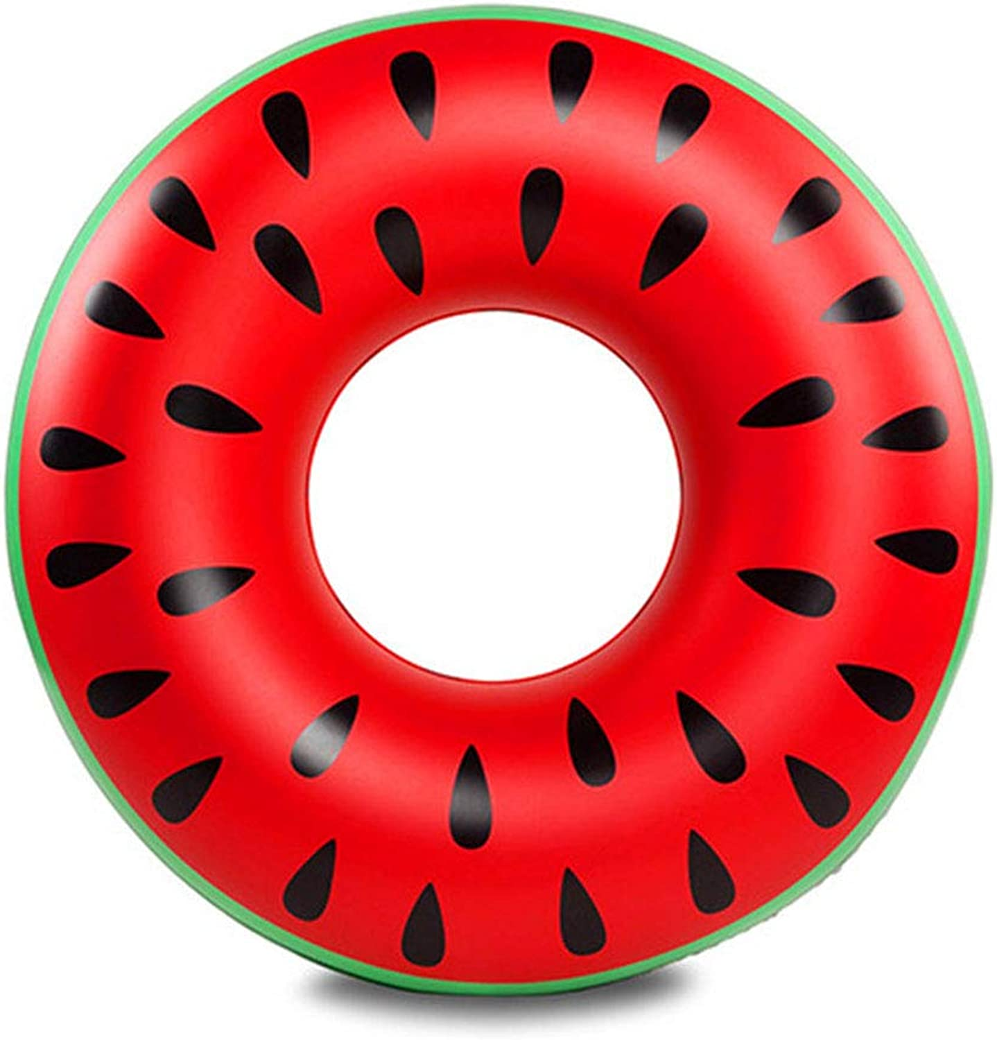 CBWZDJZDS Inflatable Swimming Ring Floating Row Super Large 120Cm Water Seat Lifebuoy Red 36Cm