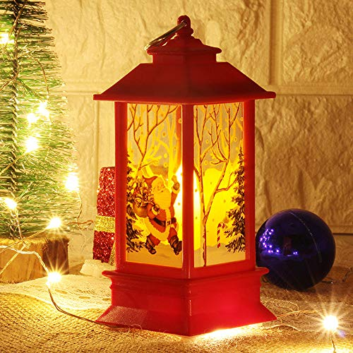 3PC Adornos Navidad Originales Rusticos con Luz LED Velas Decoracion para Mesa Casa