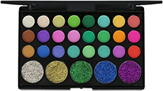 MORETIME-Paleta de sombra de ojos cosmética altamente pigmentado Mate Shimmer Crema de Maquillaje Paleta con Color Cálido y Frío Glitter Powder Palette Matte Eyeshadow Maquillaje cosmético