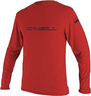 O`Neill  Men`s Basic Skins UPF 50+ Long Sleeve Sun Shirt, Red, X-Large