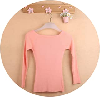 Autumn and Winter Basic Women Sweater Slit Neckline Strapless Sweater Thickening Sweater top Thread Slim C0320