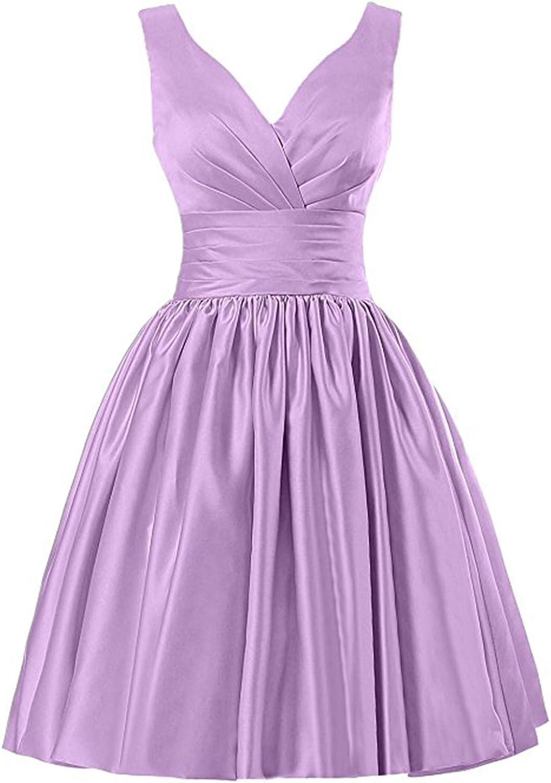 YIRENWANSHA 2018 Homecoming Dress Short Elegant Pleated Satin Knee Length Girls Prom Gown YJW4