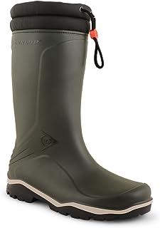 Mens Womens Dunlop Fleece Lined Padded Collar Waterproof Wellies Wellington Boot