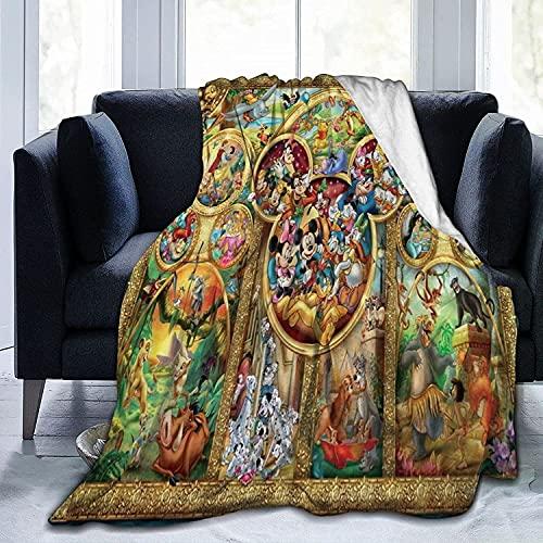 KINGAM Disney Cinderella Flanell-Überwurf, Decke, ultraweiche Tagesdecke, Mikrofaser, Fleecedecke, langlebig, Heimdekoration, ideal für Couch, Sofa, Outdoor, tolles Schlafzimmer-Zubehör