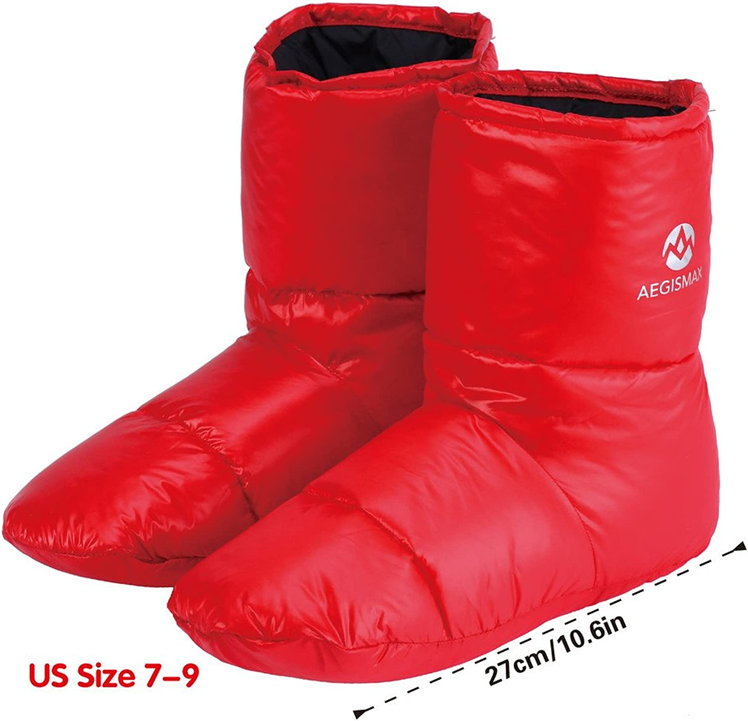 WIND HARD Winter Down Booties Socks Slippers Warm Soft Cozy for Outdoor Camping Sleeping Bag Indoor Down Filled Slipper Boots Ultralight 3 Size for Men Women