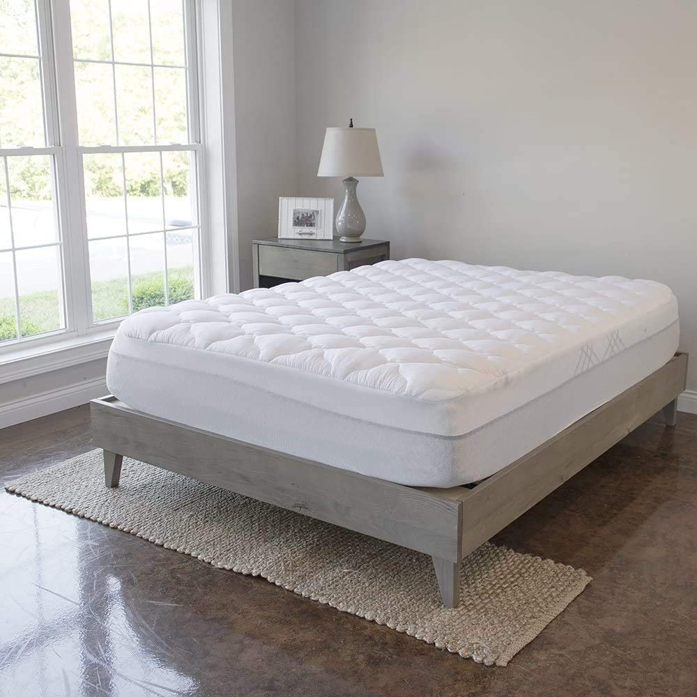 VirtueValue Mattress Pad Classic with Fitted Plush Inventory cleanup selling sale - Extra Topper Skirt