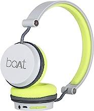 boAt Rockerz 400 Bluetooth On-Ear Headphone with Mic(Grey/Green)