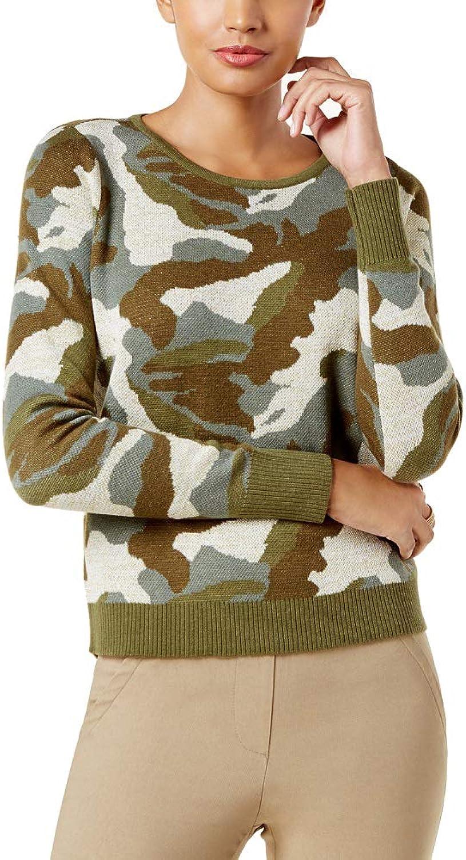 INC International Concepts Metallic CamoPrint Sweater