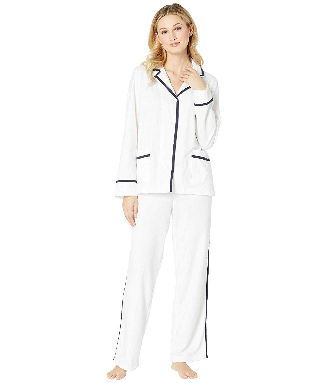 [ラルフローレン] レディース ナイトウェア Knit Twill Notch Collar Pajama Set [並行輸入品]