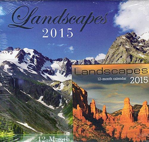 Landscapes - 2015 12 Month Calendar Includes 12 Month Mini Calendar + Free Bonus 2015 Magnetic Calendar (3 Pack)