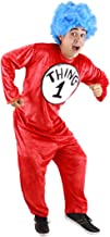 elope Dr. Seuss Cat in the Hat Thing 1 and 2 Costume for Adults