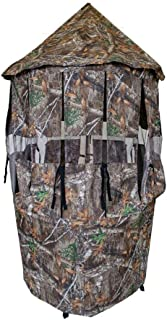 Cooper Hunting Bow Master Realtree Hunting Concealment Mesh Cover Blind with TM100 Tree Mount Stand