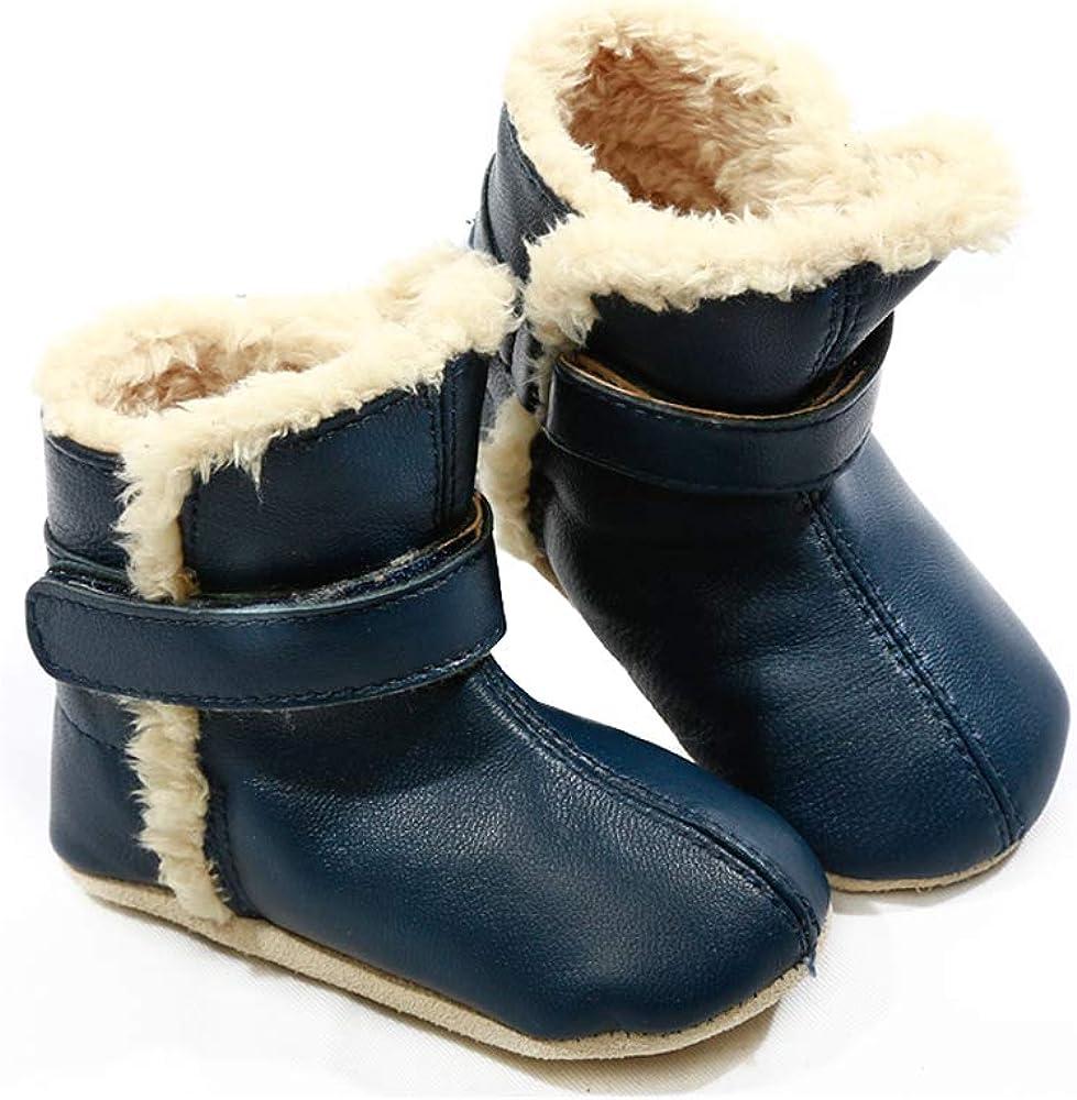 Pre-walker Leather & Faux Fur SNUG