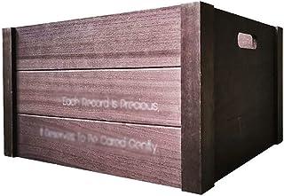 Caja de madera para almacenamiento de discos de vinilo, casa club, oficina, sala de reuniones, organizador de álbumes de C...