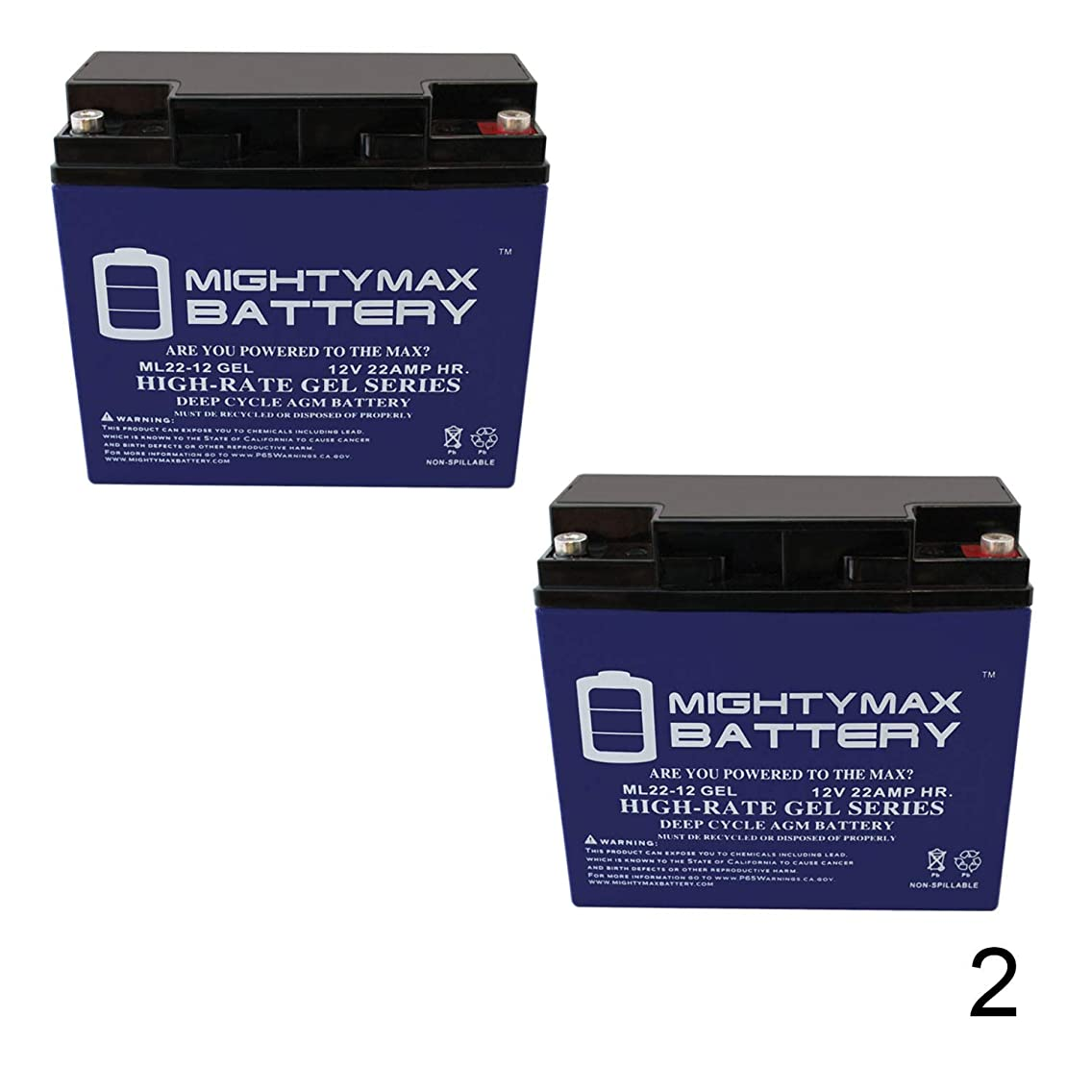 Mighty Max Battery 12V 22AH Gel Battery for Golden Technologies LiteRider GL110-2 Pack Brand Product